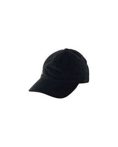 Хлопковая черная бейсболка Corneliani