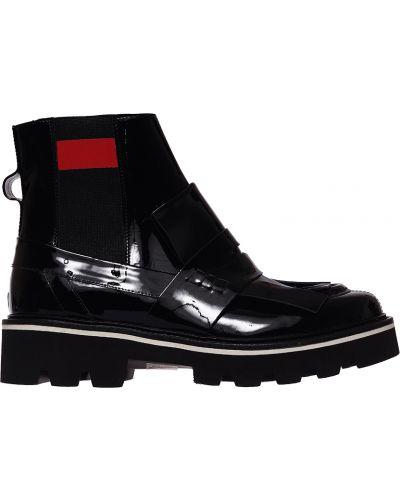 Кожаные ботинки - черные Msgm