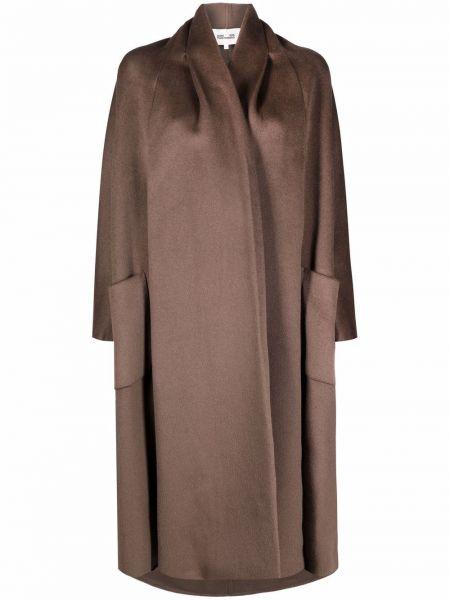 Brązowy płaszcz wełniany Dvf Diane Von Furstenberg