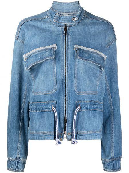 Синяя хлопковая куртка Veronica Beard