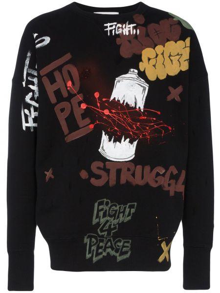 Prążkowany czarny sweter bawełniany Faith Connexion