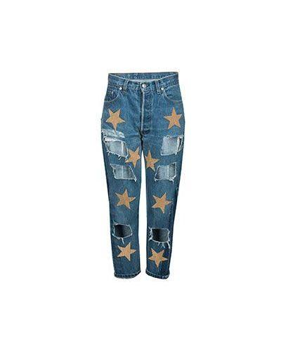Синие укороченные джинсы History Repeats