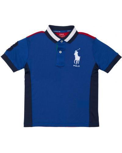 Niebieska koszula z haftem Ralph Lauren
