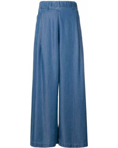 Свободные брюки палаццо с карманами Semicouture