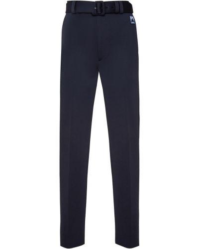 Зауженные брюки с карманами с поясом Prada