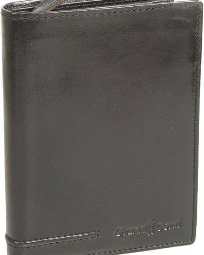 Кошелек на молнии черный Gianni Conti
