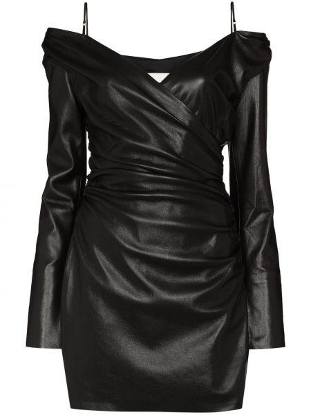 Черное платье с вырезом Nanushka