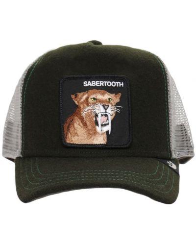 Z paskiem zielony kapelusz z haftem Goorin Bros