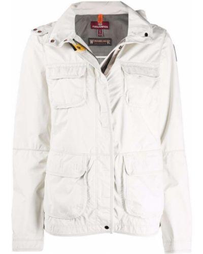 Белое пальто длинное Parajumpers