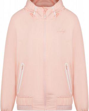 Приталенная розовая куртка с капюшоном на молнии с карманами Demix