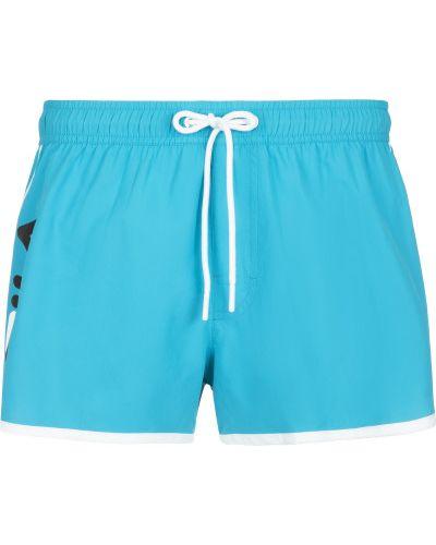 Синие пляжные пляжные шорты Fila