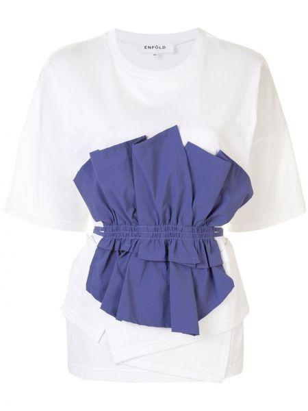 Bawełna światło prosto fioletowy koszula z krótkim rękawem Enfold