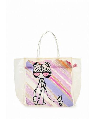 Белая пляжная сумка Venera