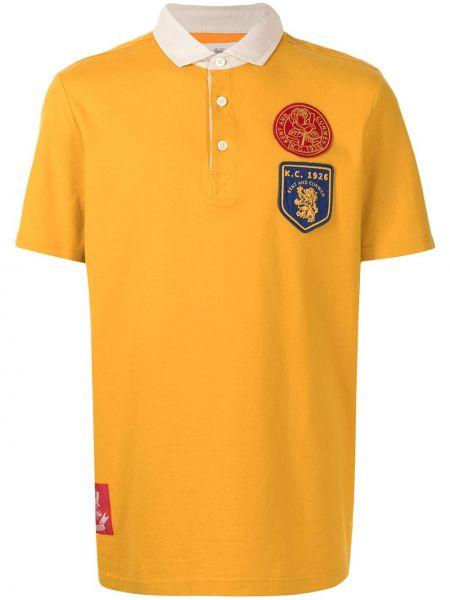 Żółta koszula krótki rękaw bawełniana Kent & Curwen