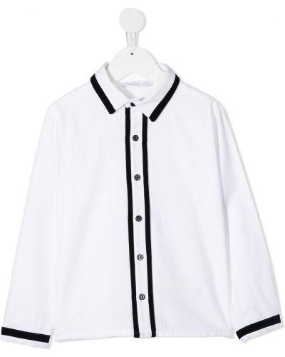 Белая рубашка на пуговицах с декоративной отделкой с воротником Patachou