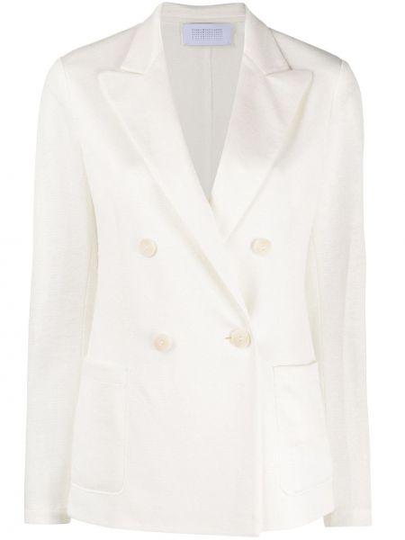 Приталенный пиджак с карманами из вискозы с лацканами Harris Wharf London