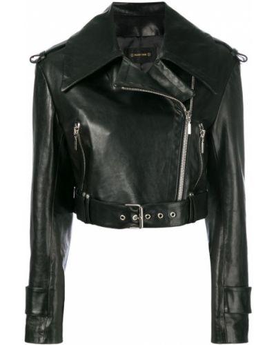 Укороченная куртка длинная свободная байкерская Plein Sud