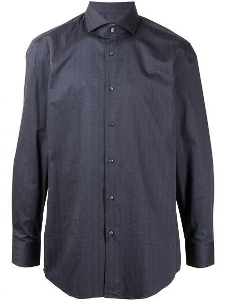 Bawełna z rękawami koszula w paski Boss