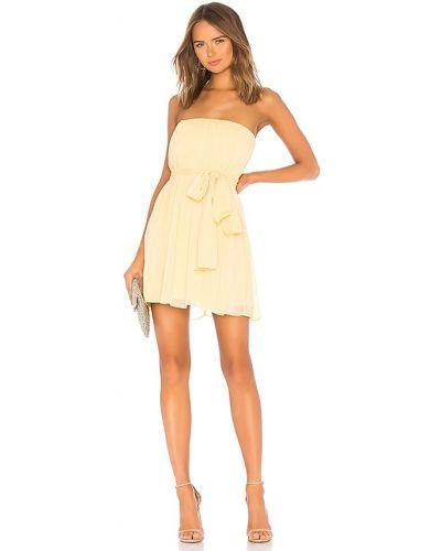 Бежевое платье мини с декольте с подкладкой Nbd