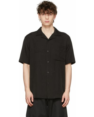 Koszula krótki rękaw - czarna Han Kjobenhavn