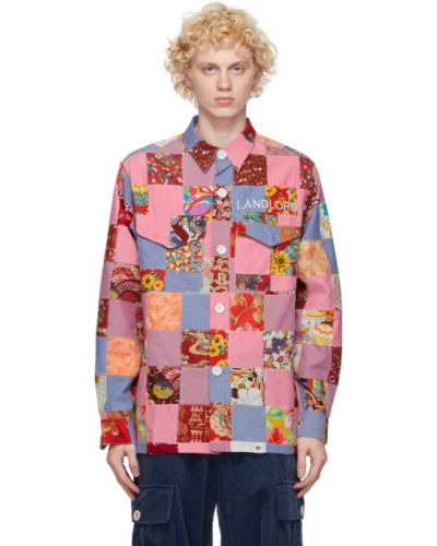 Koszula oxford bawełniana z haftem z długimi rękawami Landlord