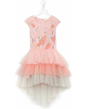 Розовое платье с рукавами из фатина Tutu Du Monde