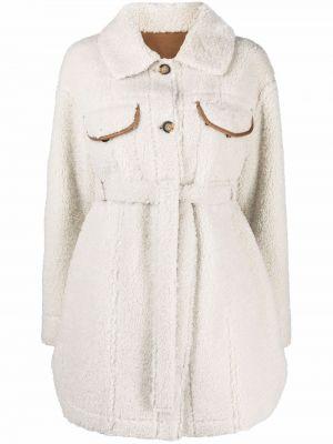 Biały płaszcz z eko skóry Urbancode