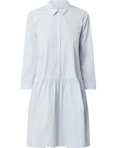 Sukienka rozkloszowana w paski - niebieska Cinque