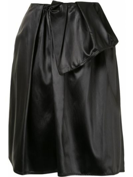 Черная с завышенной талией юбка на молнии с карманами Christian Wijnants