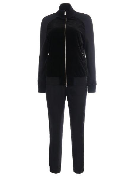 Черный костюмный спортивный костюм с карманами на молнии Capobianco
