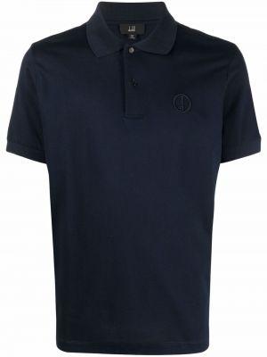 Niebieska koszula krótki rękaw Dunhill