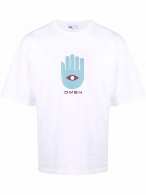 T-shirt bawełniany krótki rękaw z printem Gmbh