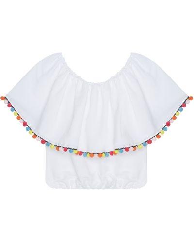 Льняная блузка - белая Forte Couture