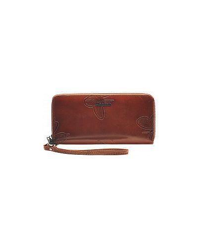 Коричневый кожаный кошелек Malgrado