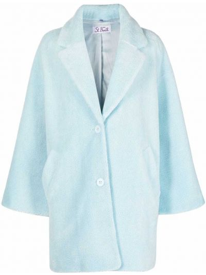 Пальто из овчины - синее Mc2 Saint Barth