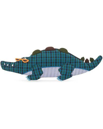 Синяя сумка из крокодила на молнии Familiar