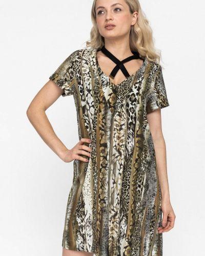 Платье прямое зеленый Artwizard