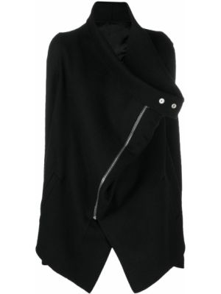 Шерстяное черное пальто с карманами Rick Owens