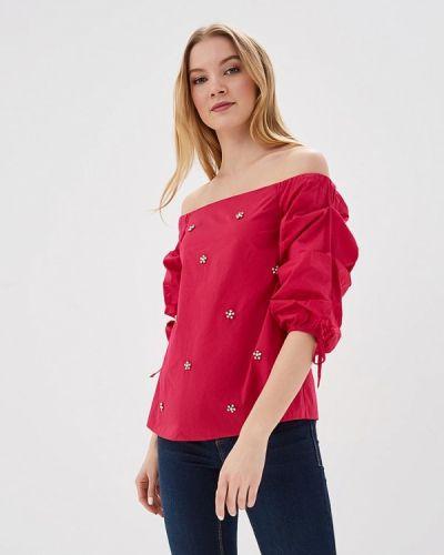 Блузка с открытыми плечами розовая весенний Dorothy Perkins