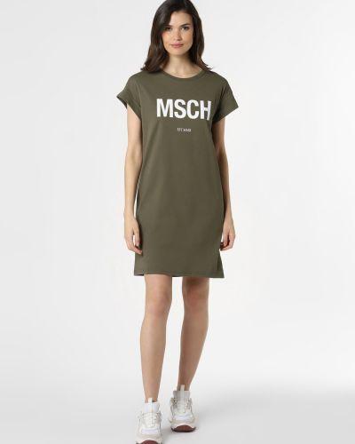 Zielona sukienka z printem Moss Copenhagen