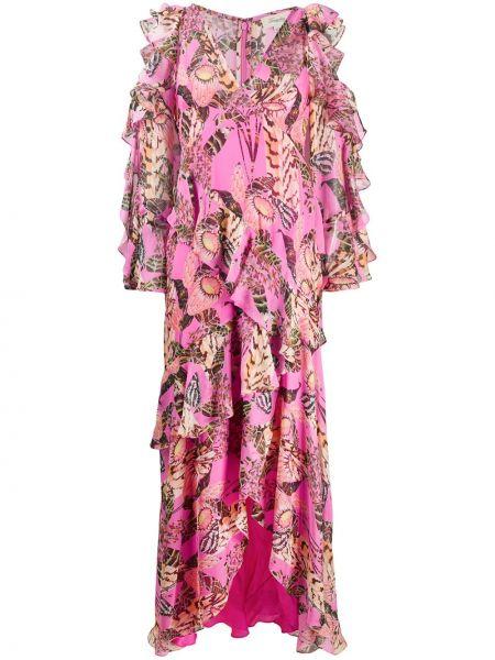 Платье розовое с завышенной талией Temperley London
