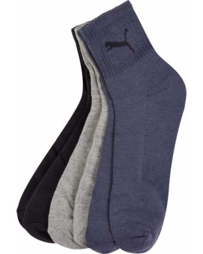Niebieskie prążkowane skarpety bawełniane Puma