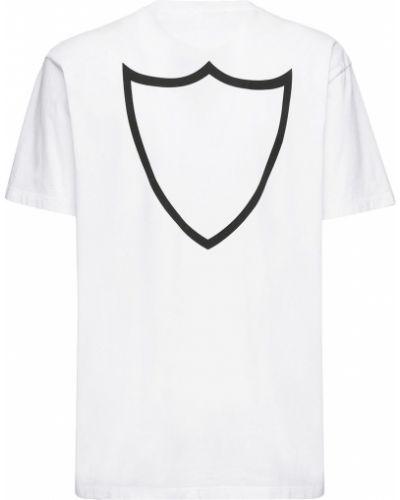 Biały t-shirt bawełniany z printem Htc Los Angeles