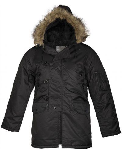 Куртка с капюшоном - черная Mil-tec