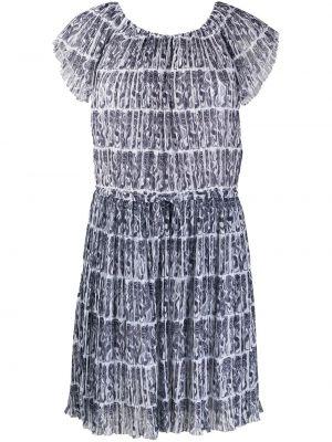 Свободное белое платье мини свободного кроя Kenzo