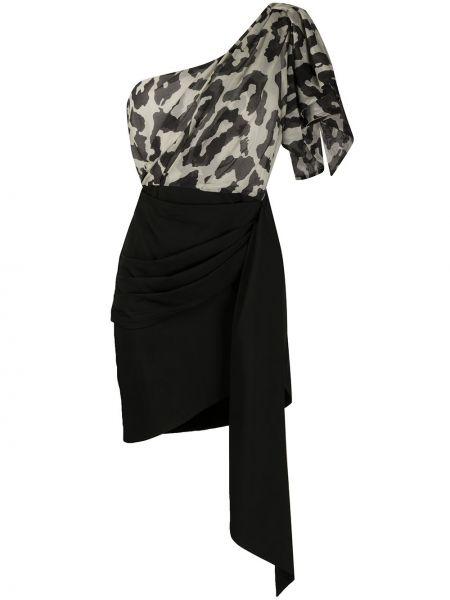 Драповое асимметричное приталенное платье с драпировкой Christian Pellizzari