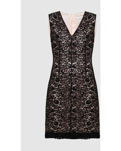 Черное платье миди Lanvin