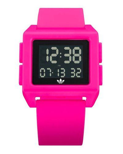 Różowy zegarek Adidas