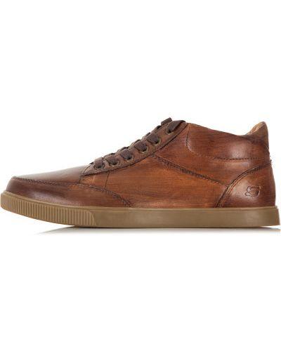 Кеды кожаный на шнуровке Skechers