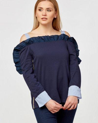 Блузка с длинным рукавом синяя немецкая Campione